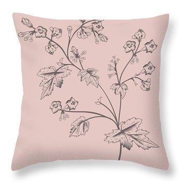 Phacelia Blush Pink Flower Throw Pillow
