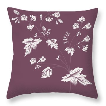 Phacelia Purple Flower Throw Pillow