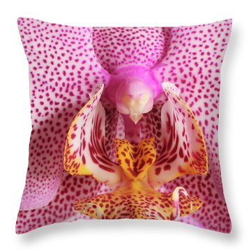 Phalaenopsis Orchid Throw Pillow