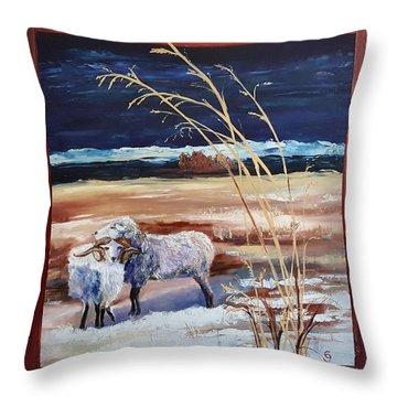 Phil And Alice Navajo Sheep    38 Throw Pillow