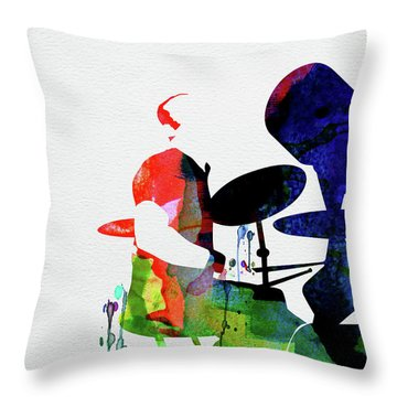 Phil Collins Watercolor Throw Pillow