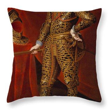 Philip Iv In Parade Armor Throw Pillow