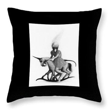 Philippa The Crackling Rider - Artwork  Throw Pillow