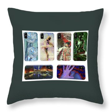 Phone Cases Samples Throw Pillow