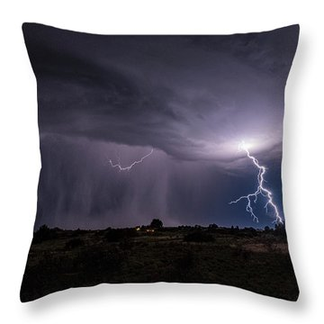 Thunderstorm #3 Throw Pillow
