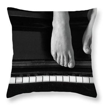 Piano #0215az Throw Pillow