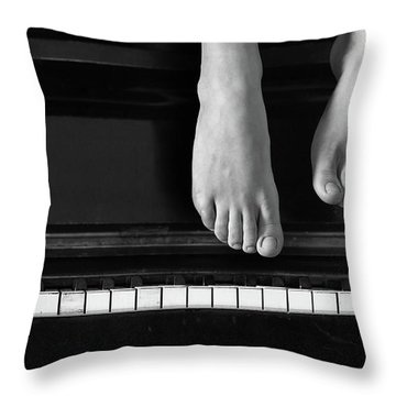 Piano #0215az Throw Pillow