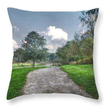 Pickerington Ponds Walkway Throw Pillow