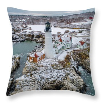 Picturesque Maine  Throw Pillow