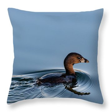Pied-billed Grebe Throw Pillow