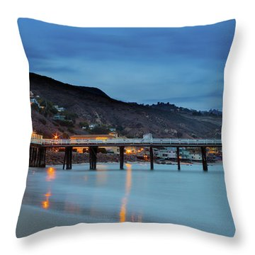 Pier House Malibu Throw Pillow