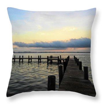 Pier Into Morning Throw Pillow