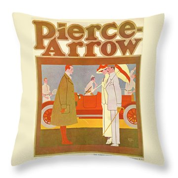 Pierce-arrow Advertisement Throw Pillow