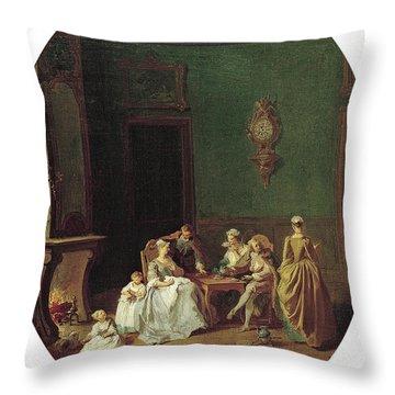 Pierre-antoine Quillard -paris, C. 1704 -lisboa, 1733-. The Four Seasons Winter -ca. 1725 - 1729... Throw Pillow