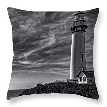 Pigeon Point Light Station Throw Pillow