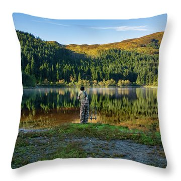 Pike Fisherman Throw Pillow