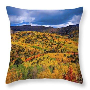 Pikes Peak Autumn Throw Pillow