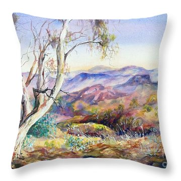Pilbara, Hamersley Range, Western Australia. Throw Pillow