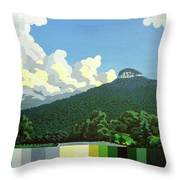Pilot Mountain - Summer Throw Pillow