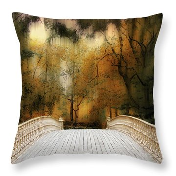Pine Bank Arch In Autumn Throw Pillow