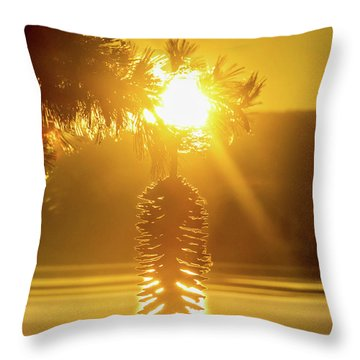 Pine Cone Fire Throw Pillow
