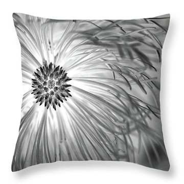 Pine Cone With Needle Halo Throw Pillow