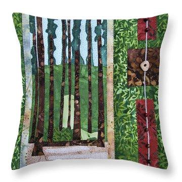 Pine Forest Tall Throw Pillow