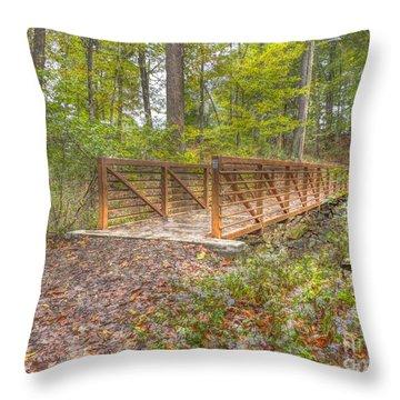 Pine Quarry Park Bridge Throw Pillow