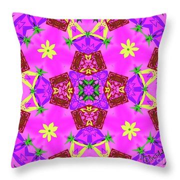 Pink 3 Throw Pillow
