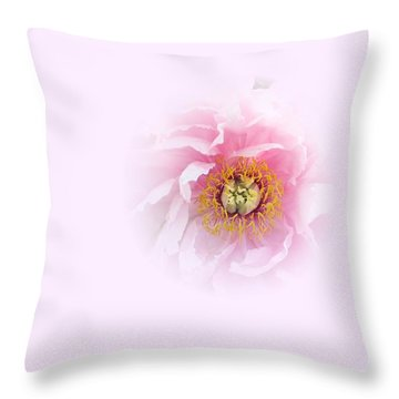 Pink Breath Throw Pillow
