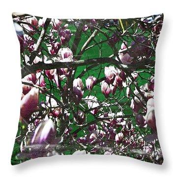 Pink Bush Throw Pillow