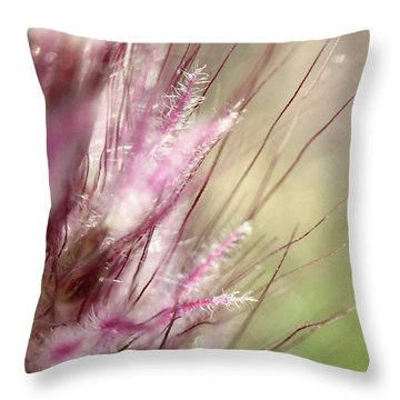 Pink Cotton Candy Throw Pillow