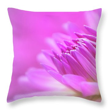 Throw Pillow featuring the photograph Pink Dahlia Dreams by Mary Jo Allen