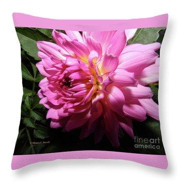 Pink Flower No. 58 Throw Pillow