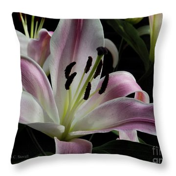 Pink Flowers No. 61 Throw Pillow