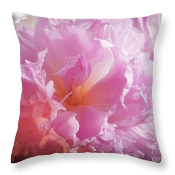 Pink Flowers No. 77 Throw Pillow