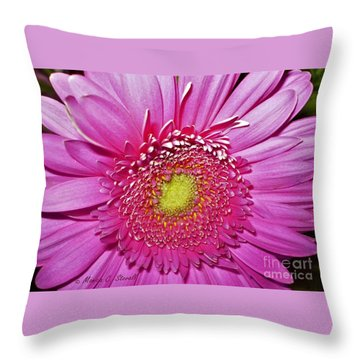 Pink Flowers P4 Throw Pillow