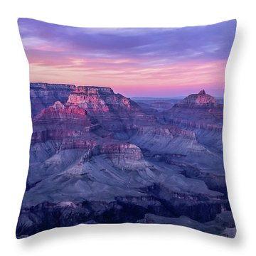 Pink Hues Over The Grand Canyon Throw Pillow
