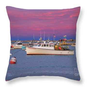 Pink In Plymouth Throw Pillow