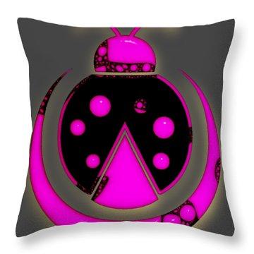 Pink Ladybug Throw Pillow