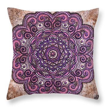 Pink Mandala Throw Pillow
