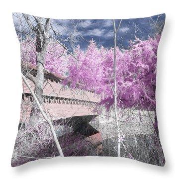 Pink Sachs Throw Pillow