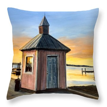 Pink Shed Throw Pillow