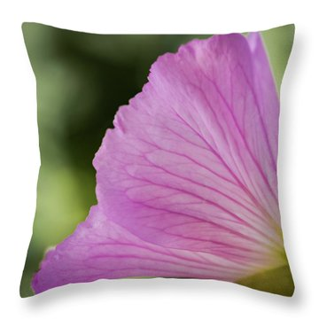 Pink Vains Throw Pillow