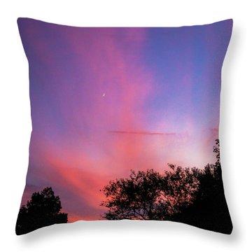 Pink Whisps Throw Pillow