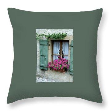 Pink Window Box Throw Pillow