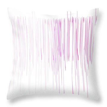 Throw Pillow featuring the mixed media Pinked by Jessica Eli