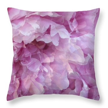 Throw Pillow featuring the digital art Pinkity by Cindy Greenstein