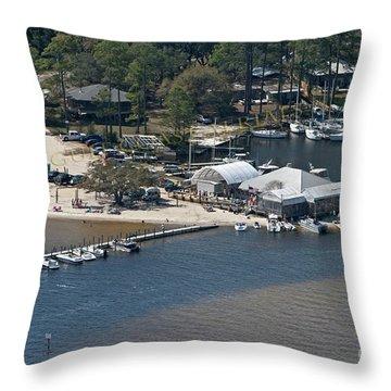Pirates Cove - Natural Throw Pillow