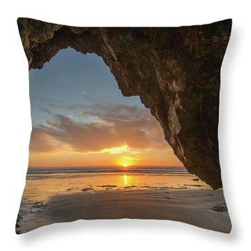 Pismo Caves Sunset Throw Pillow